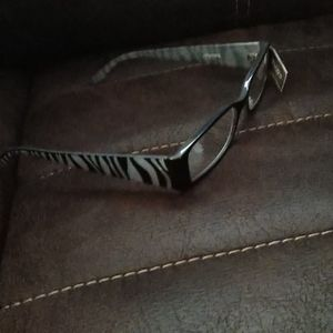 NWT Chico's Magnifying Readers +2.50 Zebra Print